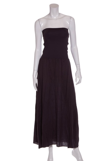 Item - Grey Strapless Knit S/M Mid-length Casual Maxi Dress Size 8 (M)