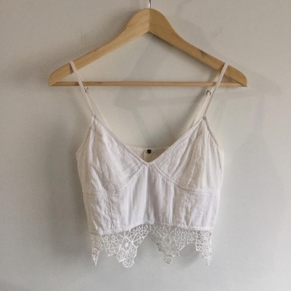 efb3e08a43424 Free People Ivory One Geo Lace Bralette Tank Top Cami Size 8 (M ...