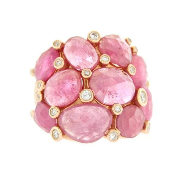 Unbranded 13.80 Ct Sliced Rose Cut Pink Sapphire & Diamonds In 14k Rose Gold Ring Unbranded 13.80 Ct Sliced Rose Cut Pink Sapphire & Diamonds In 14k Rose Gold Ring Image 1