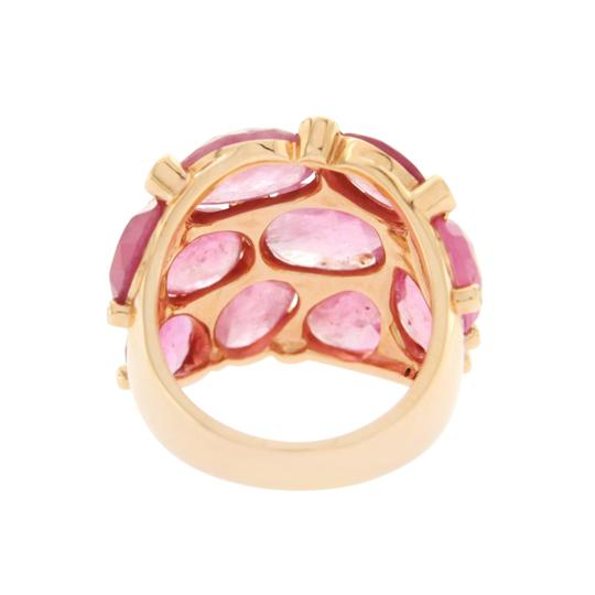 Unbranded 13.80 CT Sliced Rose Cut Pink Sapphire & Diamonds in 14K Rose Gold