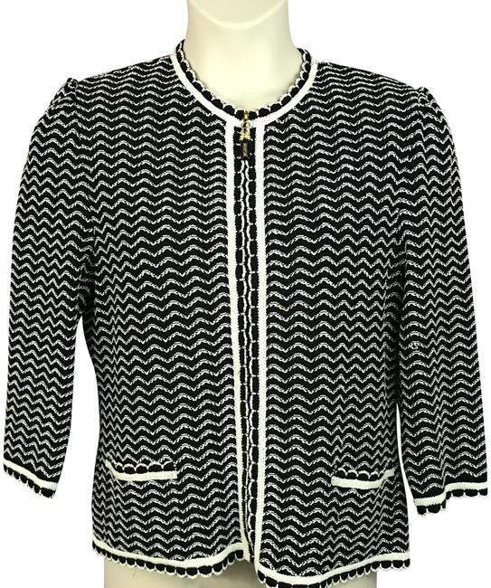Preload https://img-static.tradesy.com/item/23416415/st-john-blackwhite-collection-34-sleeved-blackwhite-knit-cardigan-jacket-blazer-size-14-l-0-1-650-650.jpg