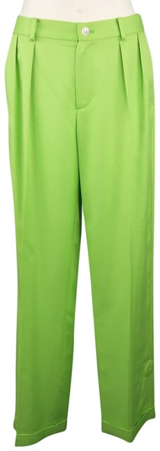 Preload https://img-static.tradesy.com/item/23416425/ralph-lauren-collection-green-silk-twill-pleated-dress-wide-leg-pants-size-6-s-28-0-1-650-650.jpg