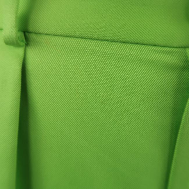 Ralph Lauren Collection Pleated Twill Silk Dress Wide Leg Pants Green