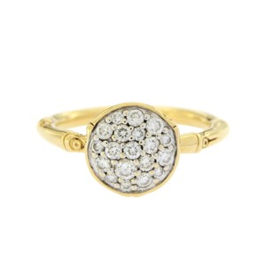 John Hardy JOHN HARDY 18K Yellow Gold Diamond Metallic Bamboo Ring