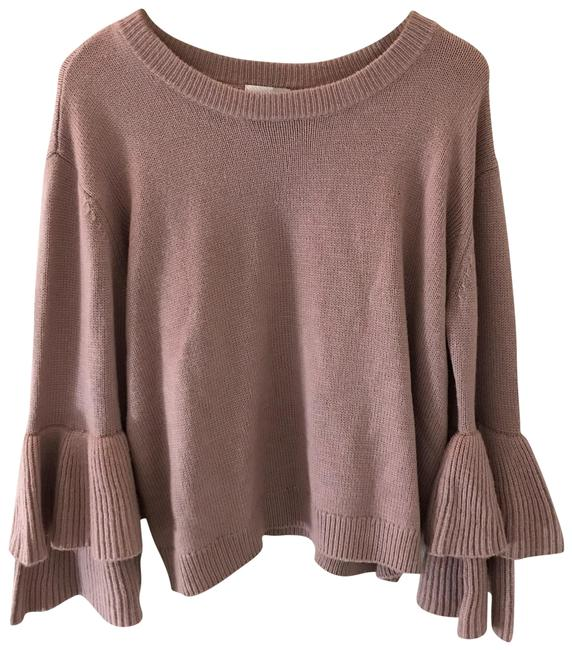 Preload https://img-static.tradesy.com/item/23416468/14th-and-union-ruffled-sleeve-pink-sweater-0-1-650-650.jpg