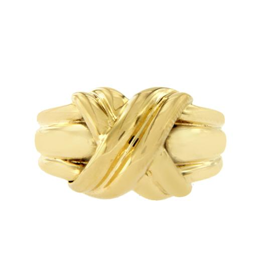 Preload https://img-static.tradesy.com/item/23416477/tiffany-and-co-18k-yellow-gold-large-knot-1990-x-ring-0-1-540-540.jpg