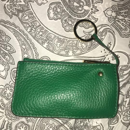 Michael Kors New Michael Kors Green Leather Coin Purse Wallet with Keyring