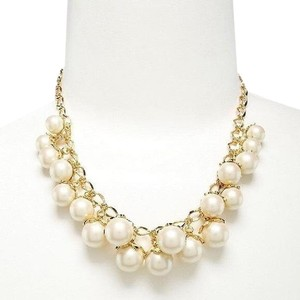 Kate Spade Kate Spade 12K Gold Plated Petaled Pearls Necklace