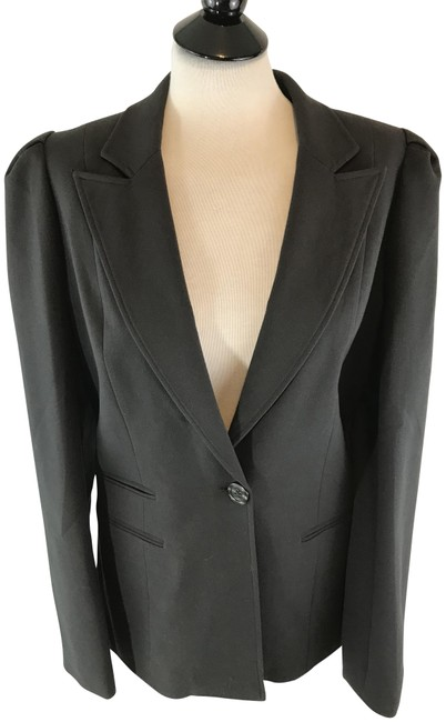 Preload https://img-static.tradesy.com/item/23416515/black-one-button-career-jacket-blazer-size-12-l-0-1-650-650.jpg