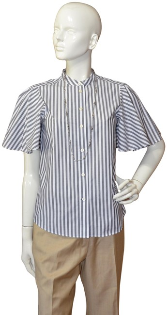 Preload https://img-static.tradesy.com/item/23416531/kate-spade-white-and-black-broome-street-stripe-flutter-sleeve-new-button-down-top-size-2-xs-0-1-650-650.jpg