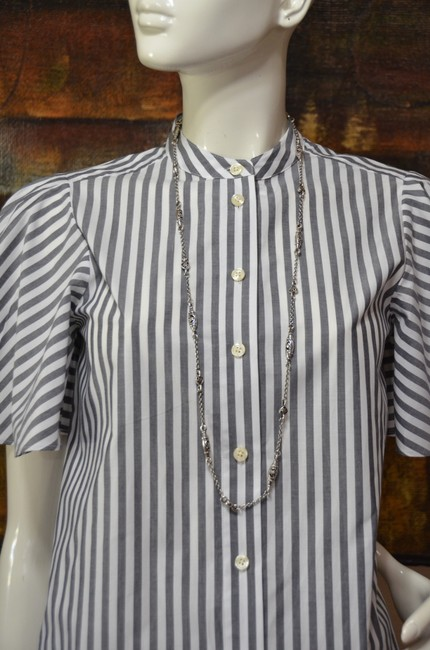 Kate Spade Button Down Shirt White and Black