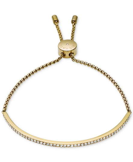 Preload https://img-static.tradesy.com/item/23416563/michael-kors-gold-tone-clear-bar-slide-bracelet-0-0-540-540.jpg