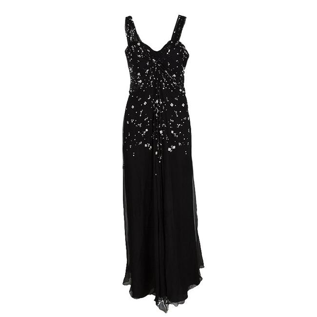 Preload https://img-static.tradesy.com/item/23416640/dior-black-silk-chiffon-crystal-embellished-gown-s-long-cocktail-dress-size-6-s-0-0-650-650.jpg