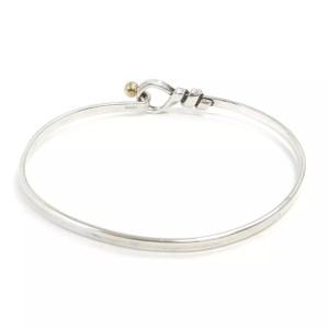 Tiffany & Co. Tiffany & Co. 18k Gold & Sterling Silver Love Knot Bangle Bracelet