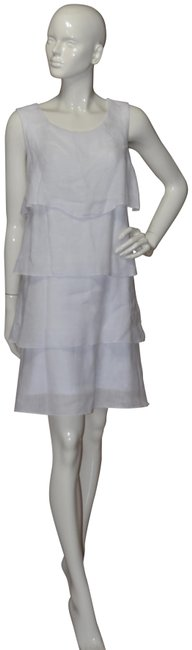 Preload https://img-static.tradesy.com/item/23416671/white-layer-linen-summer-short-casual-dress-size-os-one-size-0-1-650-650.jpg