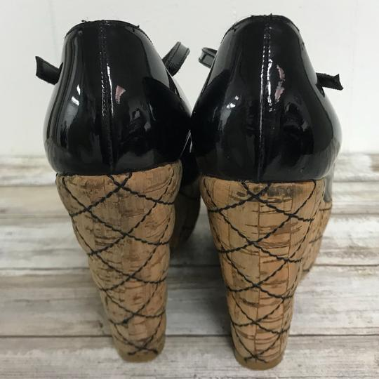 Chanel Cork Black Platforms