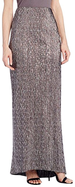 Preload https://img-static.tradesy.com/item/23416712/bcbgeneration-brown-silver-metallic-textured-mermaid-long-maxi-skirt-size-12-l-32-33-0-1-650-650.jpg
