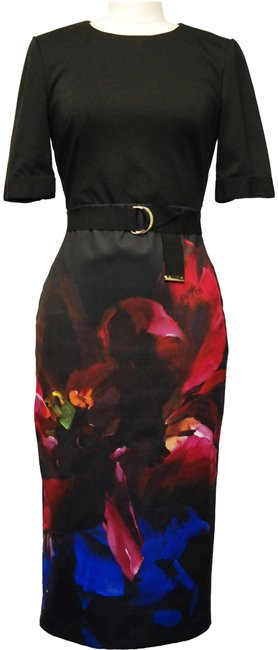 Preload https://img-static.tradesy.com/item/23416716/ted-baker-black-alexane-impressionist-print-sheath-mid-length-cocktail-dress-size-6-s-0-2-650-650.jpg