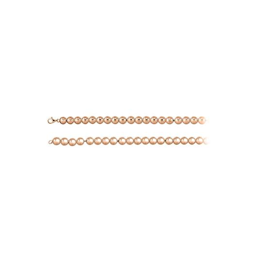 Preload https://img-static.tradesy.com/item/23416768/pink-10mm-beads-chain-14k-rose-gold-vermeil-necklace-0-0-540-540.jpg