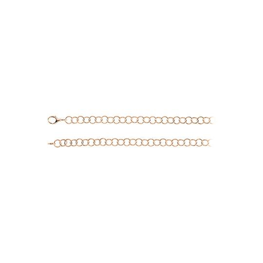 Preload https://img-static.tradesy.com/item/23416784/pink-12mm-ring-silver-chain-in-14k-rose-gold-vermeil-necklace-0-0-540-540.jpg