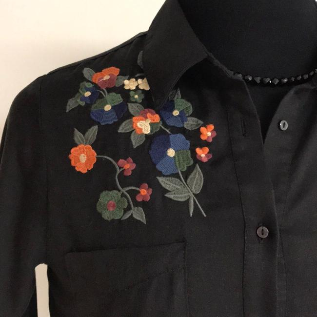 For The Republic Button Down Shirt Black