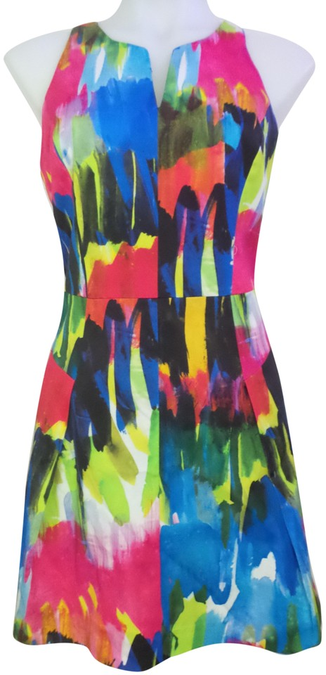 6173db6f9fde MILLY Multicolor Mid-length Cocktail Dress Size 6 (S) - Tradesy