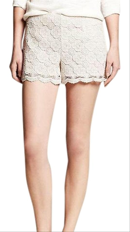 Banana Republic Cream Lace Crochet Shorts Size 14 L 34 Tradesy