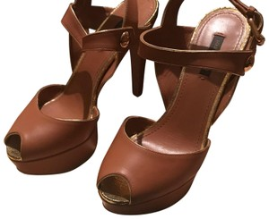Louis Vuitton Caramel Brown Mules