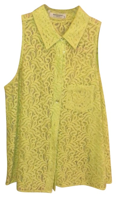 Item - Green Lime Lace Button Up Button-down Top Size 0 (XS)