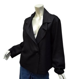 Annette Görtz Zen Fashion Designer Boxy Fit Slouch Black Jacket
