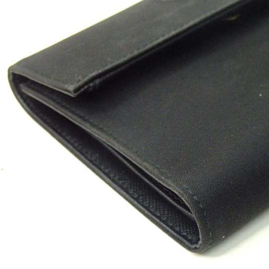 Prada Prada Black tessuto nylon saffiano leather MEDIUM bifold wallet