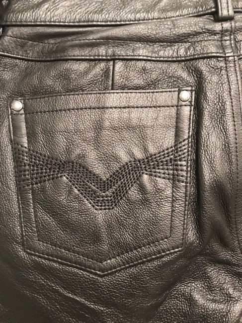 Harley Davidson Low Rise Motorcycle Small Boot Cut Pants Black