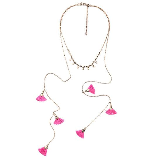 Preload https://img-static.tradesy.com/item/23417070/pink-tassel-layer-necklace-0-1-540-540.jpg