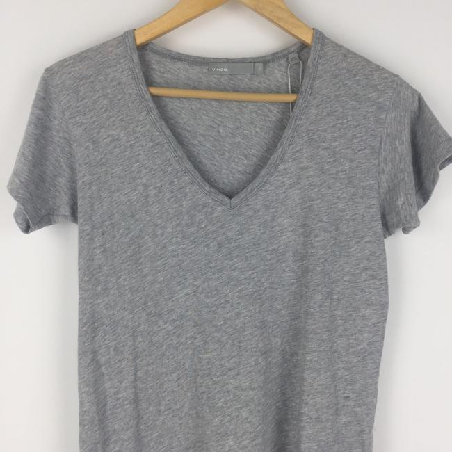 Vince Casual Vneck Heather T Shirt Gray