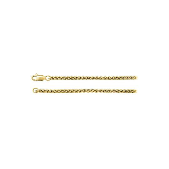 Preload https://img-static.tradesy.com/item/23417156/yellow-14k-gold-24mm-wheat-chain-necklace-0-0-540-540.jpg