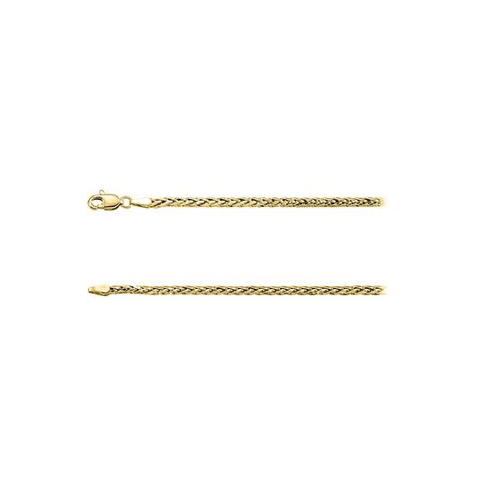 Preload https://img-static.tradesy.com/item/23417170/yellow-14k-gold-3mm-wheat-chain-necklace-0-0-540-540.jpg