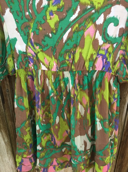 ECI New York Flowers Colorful Lightweight Layered Top