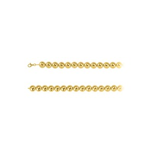 Marco B 16mm Beads Chain Necklace in 18K Yellow Gold Vermeil