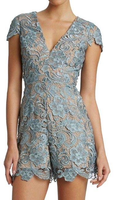 Preload https://img-static.tradesy.com/item/23417236/dress-the-population-bluenude-lace-short-romperjumpsuit-size-8-m-0-1-650-650.jpg