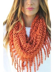 Unbranded orange knit scarf