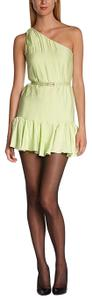 BCBGeneration short dress Melon Grecian One Shoulder Belt on Tradesy