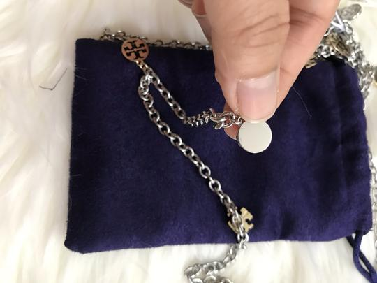 Tory Burch NWT Logo Charm Rosary Necklace