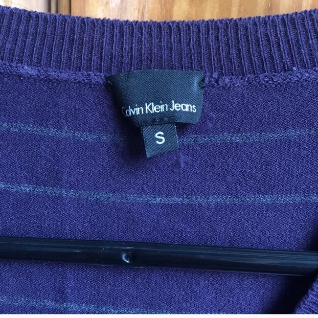 Calvin Klein Top purple with thin green stripes