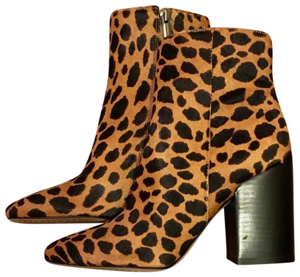 8902af48433 Vince Camuto Leopard Destilly 2 Genuine Calf Hair Boots Booties Size ...
