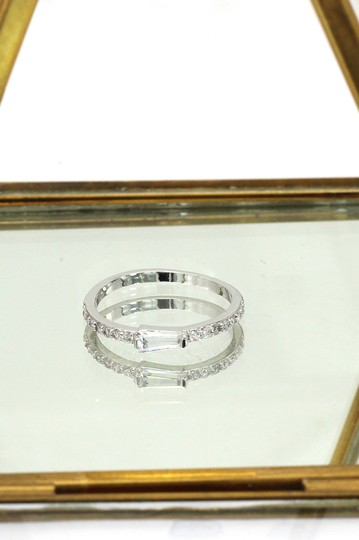 Ocean Fashion Silver Little bare Crystal ring