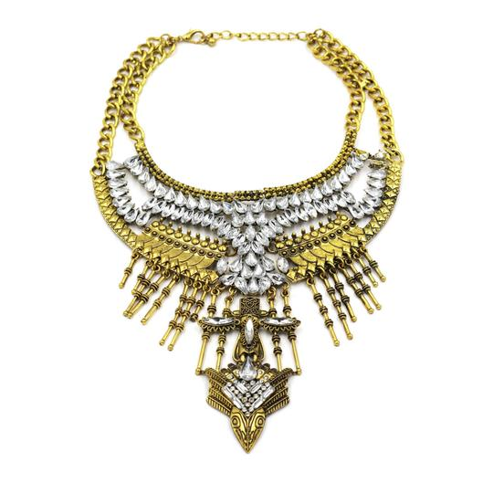 Preload https://img-static.tradesy.com/item/23417478/gold-crystal-tribe-necklace-0-0-540-540.jpg
