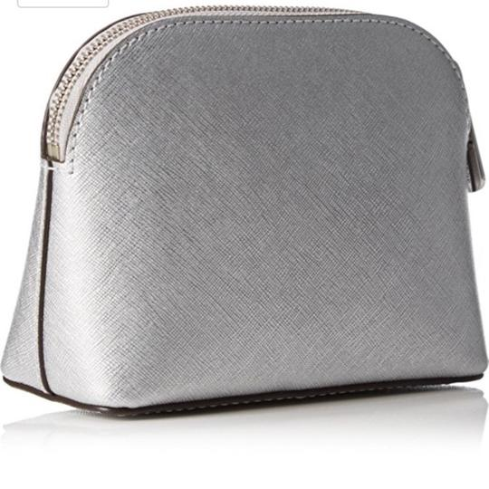 Michael Kors Michael Kors 'Cindy' Silver Leather Travel Pouch