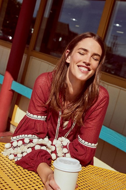 Anthropologie Top Burgundy
