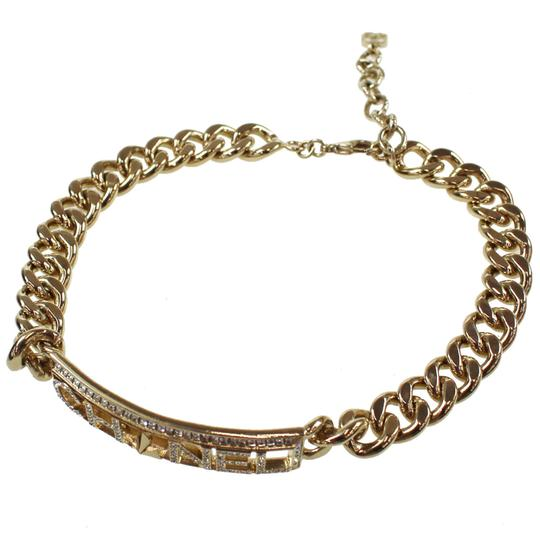 Chanel CHANEL Star Rhinestone Chain Necklace White Gold A17 France Vintage