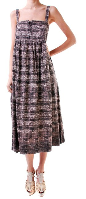 Free People short dress Taupe Wide Square Neck Full Midi Skirt Low Cut Back Breezy + Cool Pockets on Tradesy